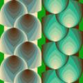 Free geometric wheat weave patterns