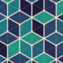 Free hexagonal cube mesh patterns