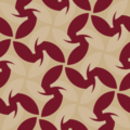 Free interlocking foliage weave patterns