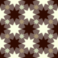 Free interlocking geometric stars patterns