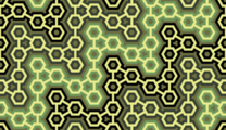 Free interlocking hexagon structure patterns