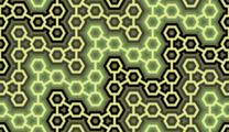 Free interlocking hexagon structure patterns