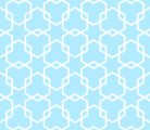 Free interlocking hexagons patterns
