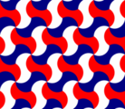 Free interlocking simple tessellation patterns