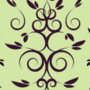 Free intertwining curl leaf patterns