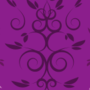Free intertwining curl leaf patterns