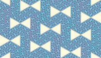 Free oriental geomtric ribbon patterns