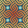Free oriental interlinking squares patterns
