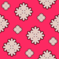 Free retro abstract flower patterns