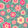 Free retro intense floral patterns