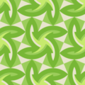 Free woven leaf geometry patterns