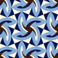 Free woven leaf geometry patterns