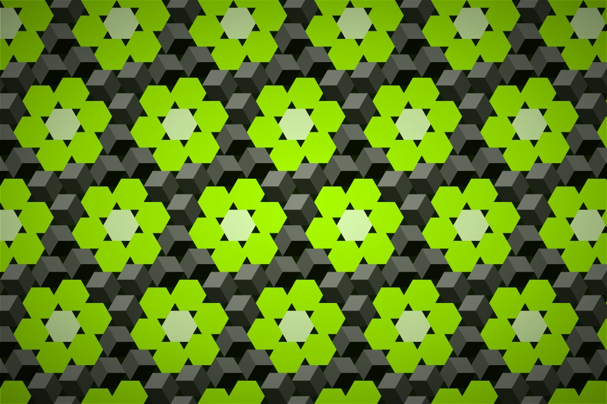 free 3d cube flower wallpaper patterns