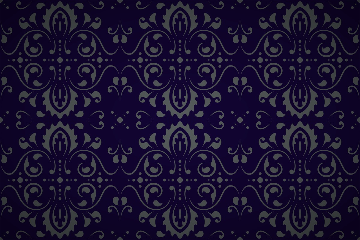 Free Curly Vector Damask Wallpaper Patterns