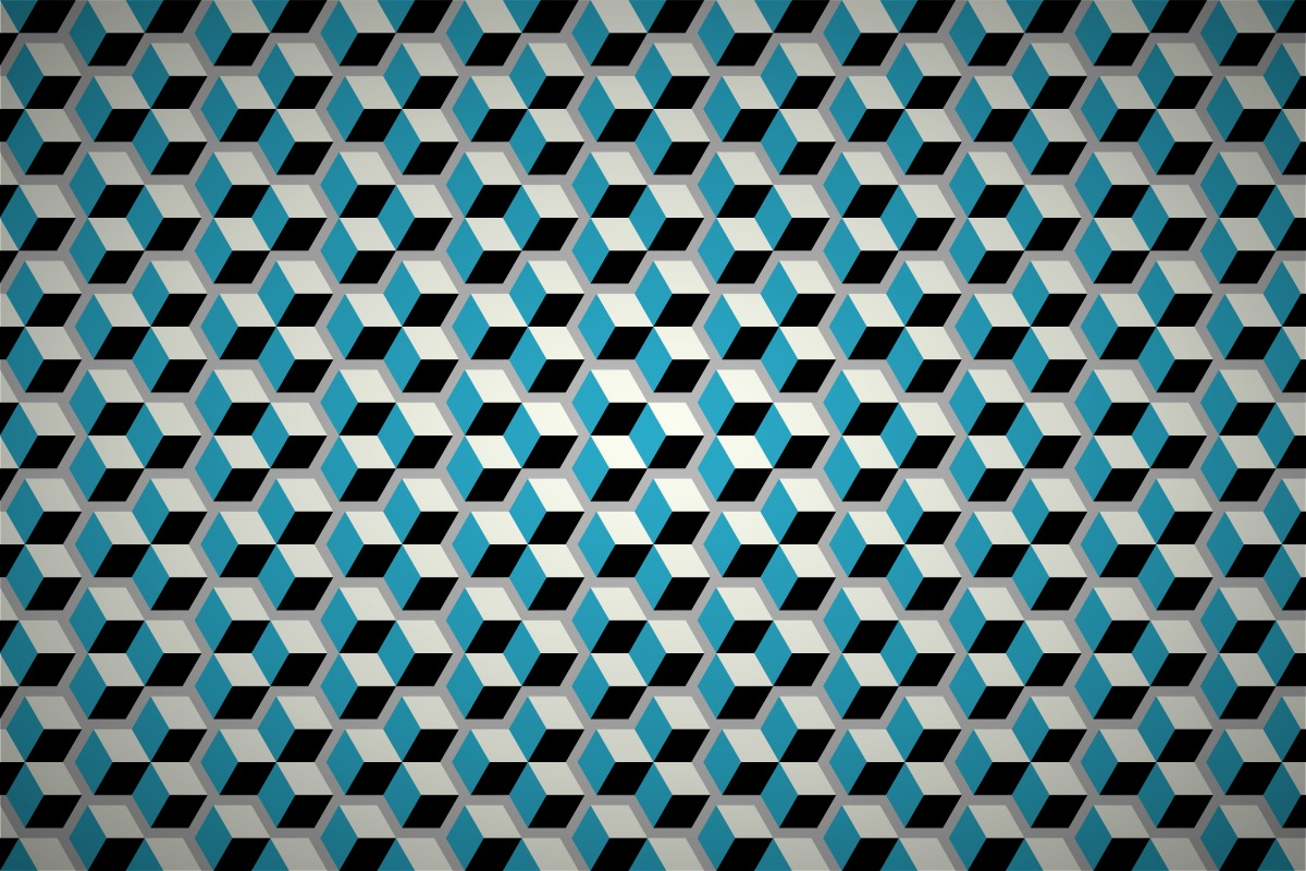 Gothic Design Free Geometric Cubes Wallpaper Patterns