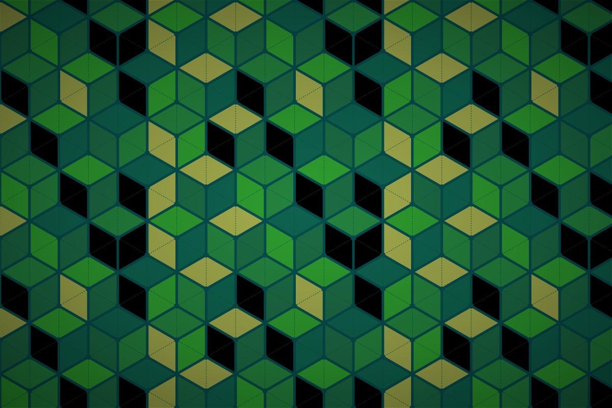 Free Hexagonal Cube Mesh Wallpaper Patterns