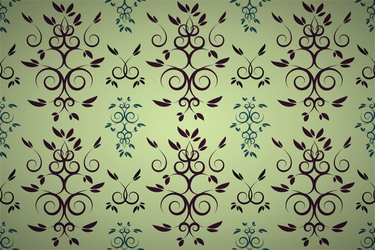 Free intertwining curl leaf wallpaper patterns