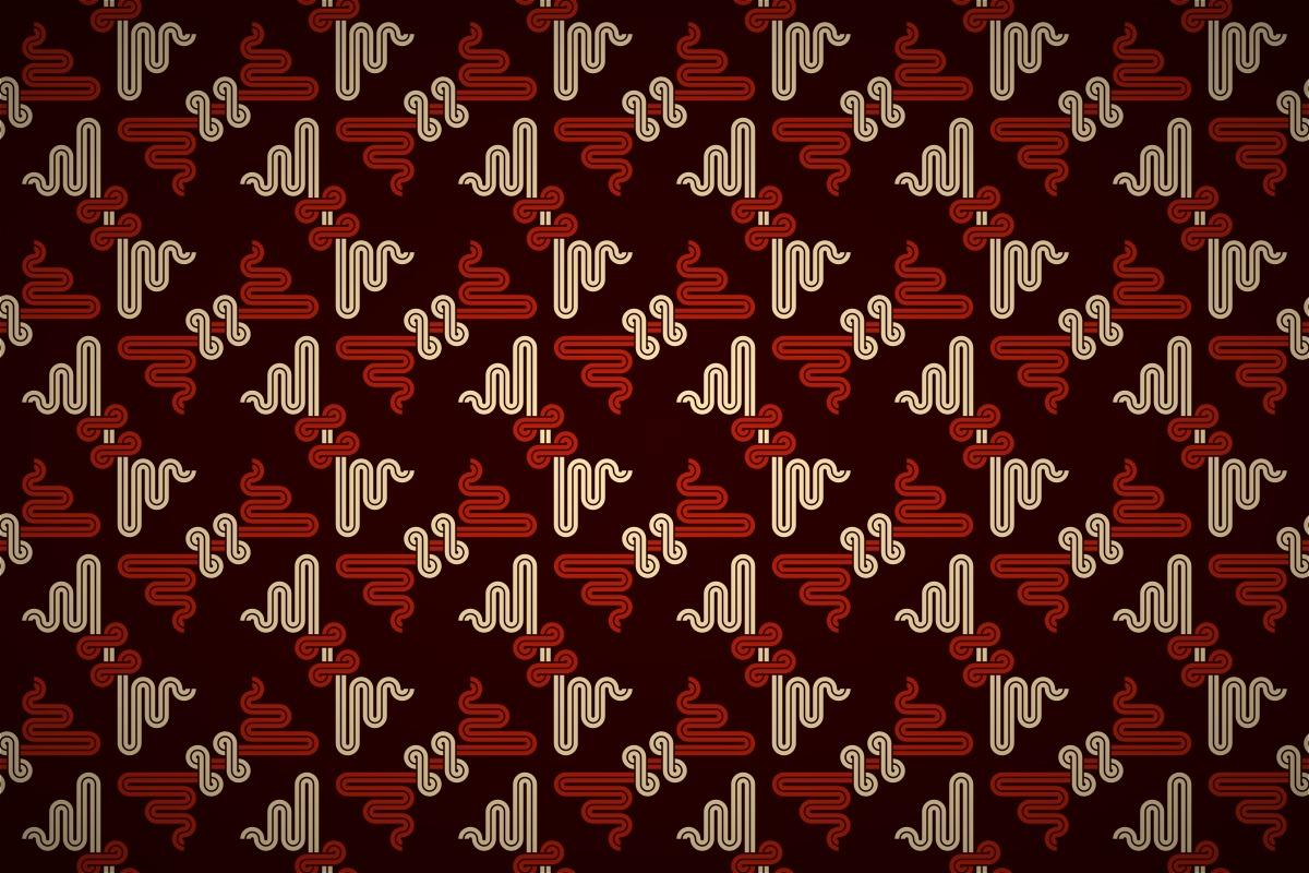 Free Oriental Dragon Motif Seamless Wallpaper Patterns