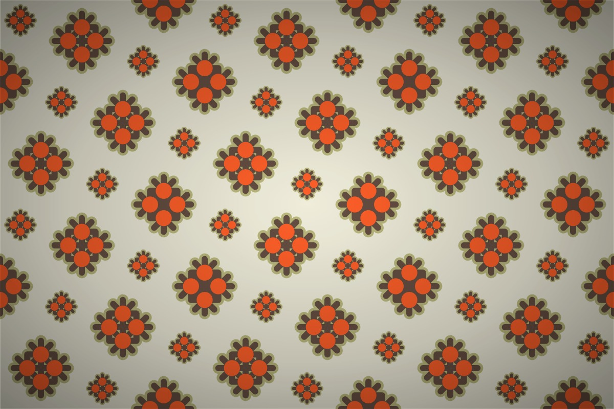 Free Retro Abstract Flower Seamless Wallpaper Patterns
