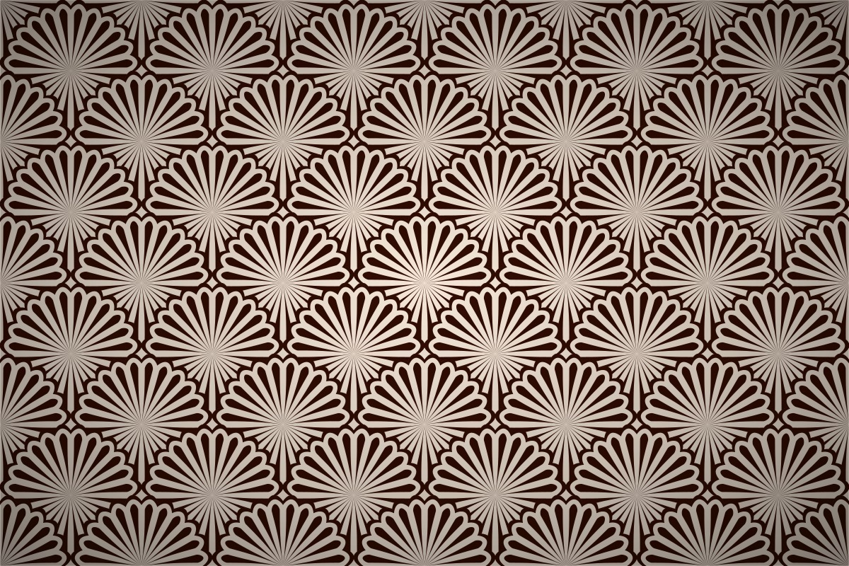 Art deco fan pattern images galleries for Art deco patterns